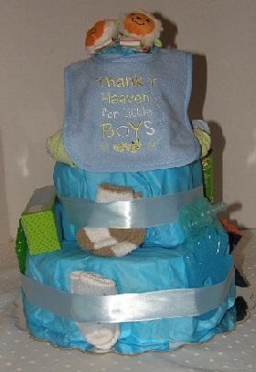 Little Boy Blue Diaper Cake