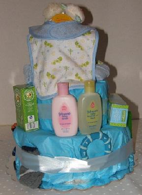 Rearview Little Boy Blue diaper cake