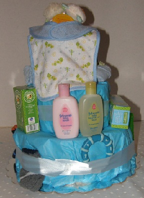 Rearview Little Boy Blue diaper cake
