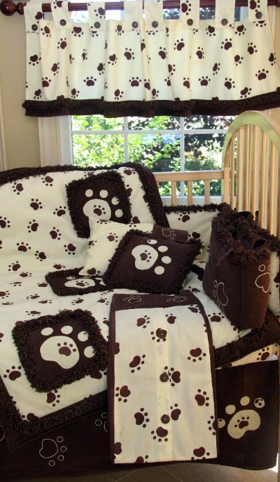 Tiny Paws Crib Bedding