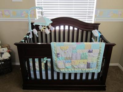 Nursery Rhyme Border And Shelf Beautiful Crib Bedding