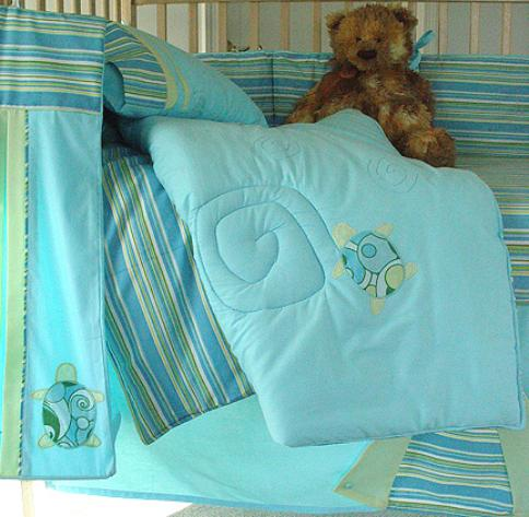 Turtle Twist Crib Bedding By Little Fern