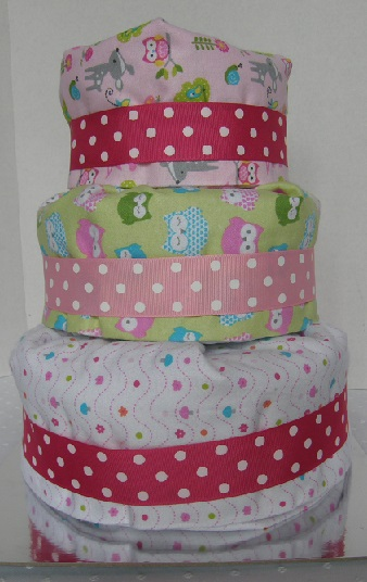 Wise Old Owl Diaper Cake