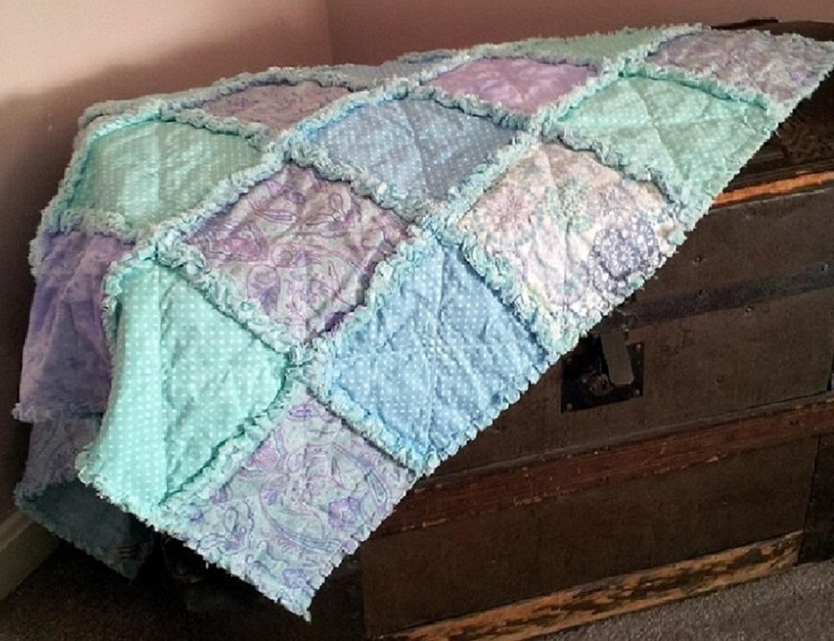 Baby Rag Quilt-Lavender's Blue