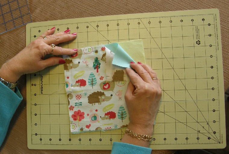 layering the quilt blocks