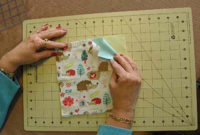 layering the quilt blocks